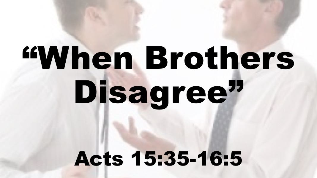 When Brothers Disagree